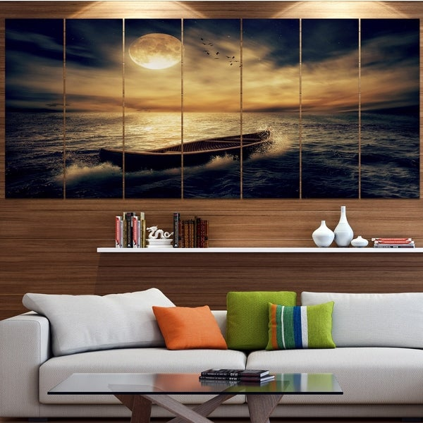Designart 'Middle of Ocean after Storm' Floral Canvas Wall Artwork