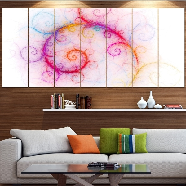 Designart 'Beautiful Pink Fractal Pattern' Abstract Wall Art Canvas