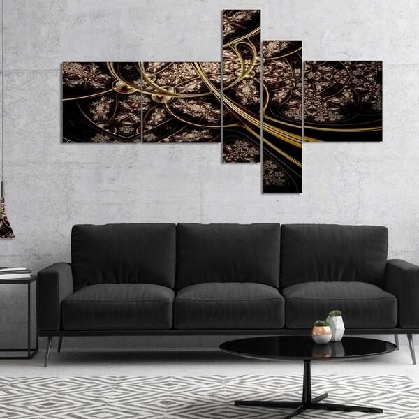 Designart 'Symmetrical Metallic Fabric' Abstract Print On Canvas