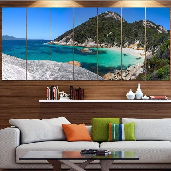 Designart 'Small Hidden Bay Panorama' Landscape Wall Artwork on Canvas