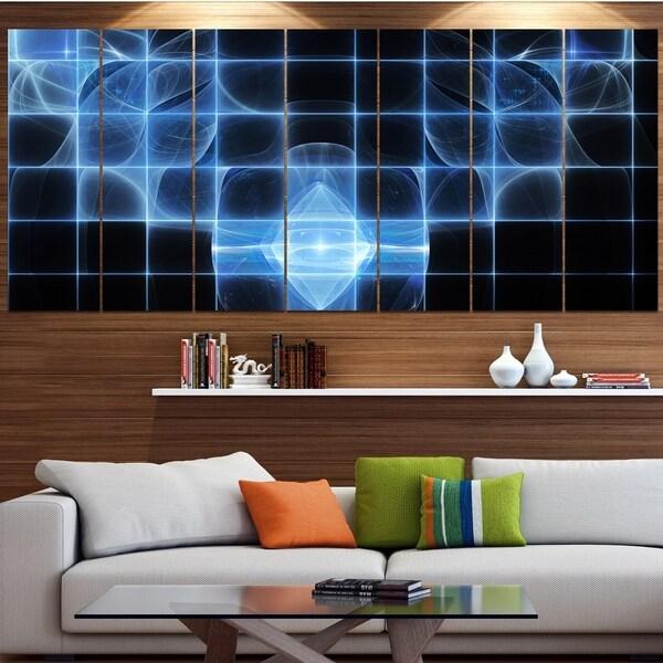 Designart 'Bright Blue Bat on Radar Screen' Abstract Wall Art on Canvas