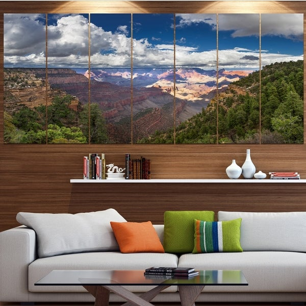Designart 'US Grand Canyon in Colorado River' Modern Landscpae Wall Art
