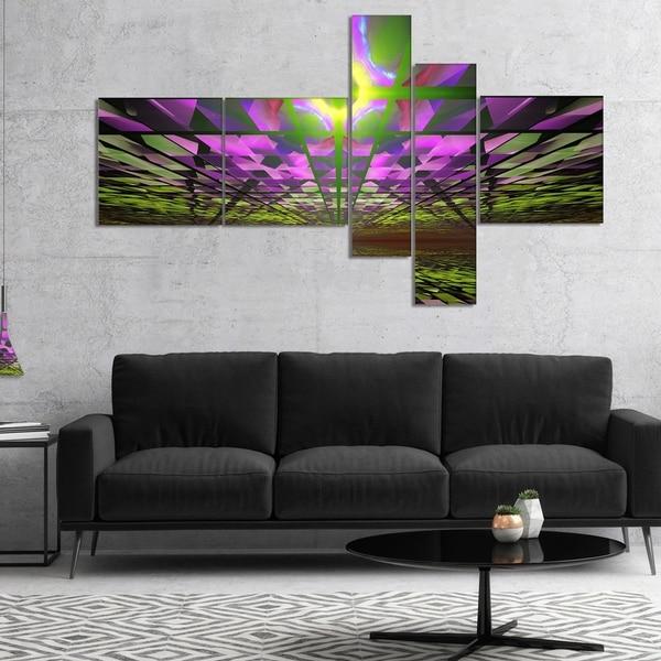 Designart 'Fractal Cosmic Apocalypse' Abstract Art on Canvas