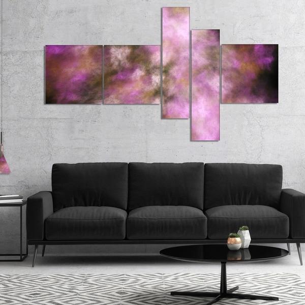 Designart 'Perfect Pink Starry Sky' Abstract Canvas Art Print