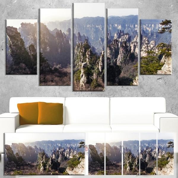 Designart 'Zhangjiajie National Forest Park' Landscape Artwork Canvas Print