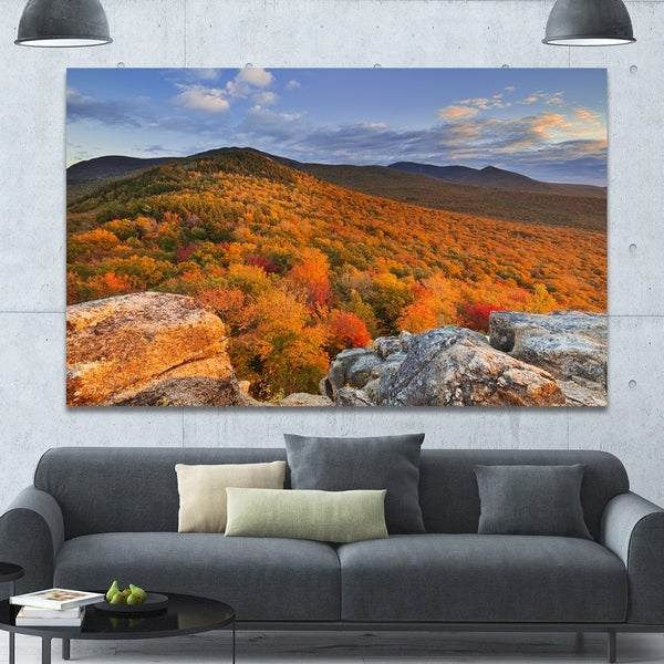 Designart 'Endless Forests in the Fall Foliage' Landscape Wall Art on Canvas