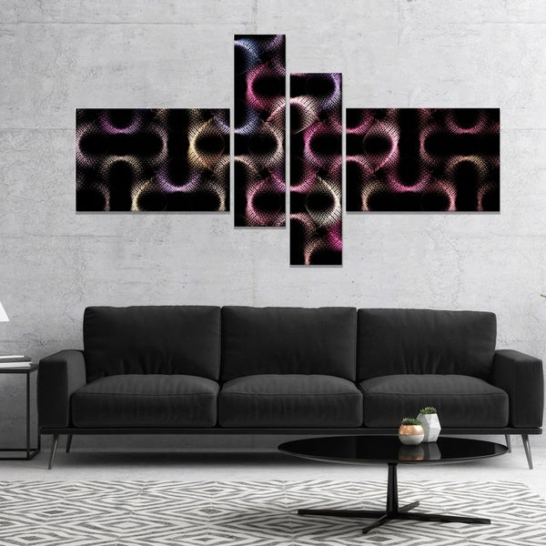 Designart 'Colorful Unusual Metal Grill' Abstract Wall Art Canvas