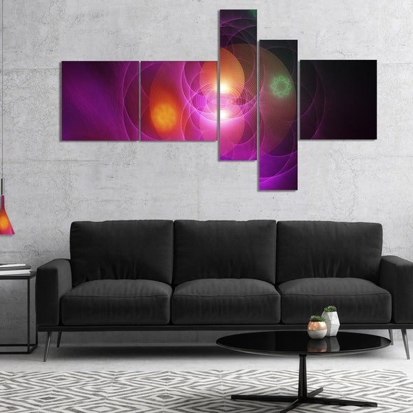 Designart 'Merge Colored Spheres.' Large Abstract Canvas Artwork Print