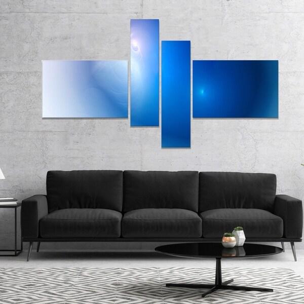 Designart 'Mysterious Blue Fractal Texture' Abstract Wall Art Canvas