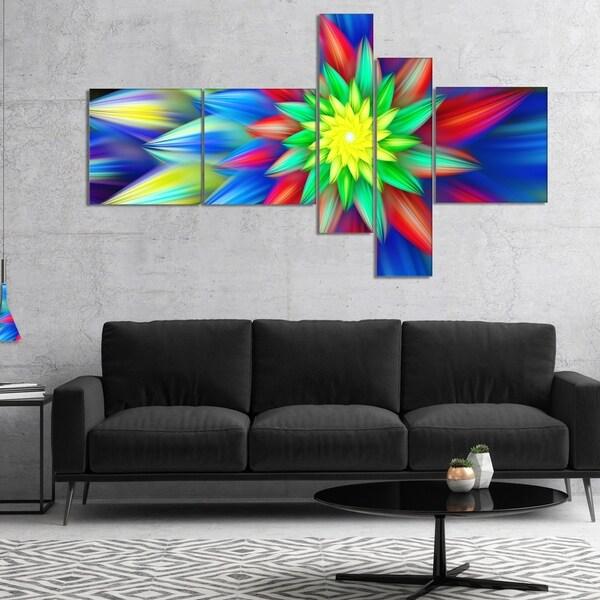 Designart 'Dance of Bright Multi Color Flower' Floral Canvas Art Print