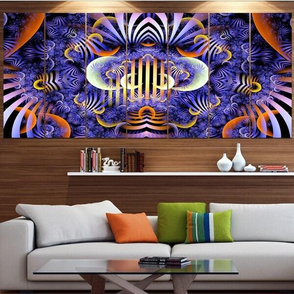 Designart 'Magical Fairy Pattern Illustration' Floral Wall Art on Canvas