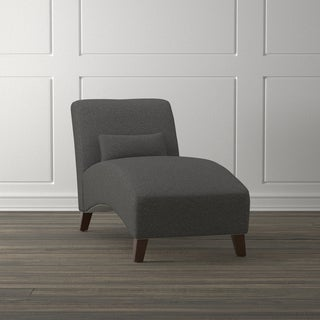 Handy Living Colbran Charcoal Black Linen Chaise Lounge