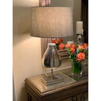 Urban Designs Dulmi 26-Inch Rusted Silver Metal And CeramicTable Lamp