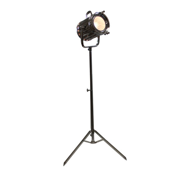 Urban Designs 71-Inch Silver Round Cinema Studio Spotlight Floor Tripod Lamp