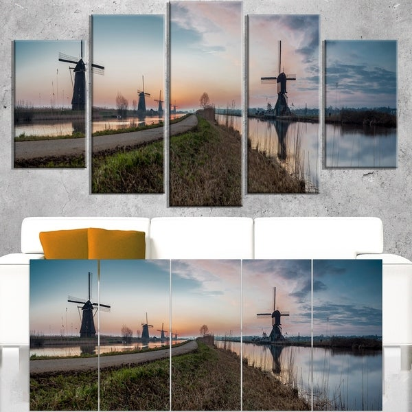 Kinderijk Holland Panorama - Landscape Artwork Canvas