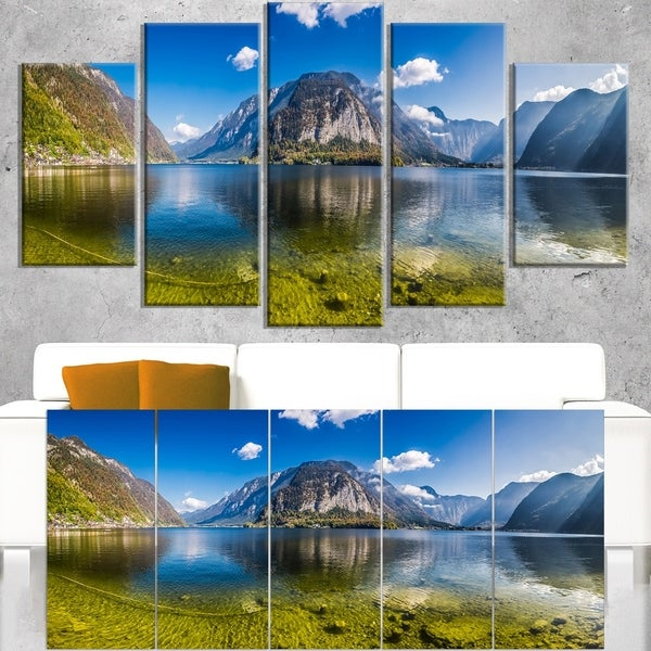 Crystal Clear Mountain Lake in Alps - Landscape Wall Art Canvas Print