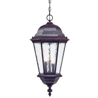 Acclaim Lighting Telfair Collection Hanging Lantern 3-Light Outdoor Marbleized Mahogany Light Fixture