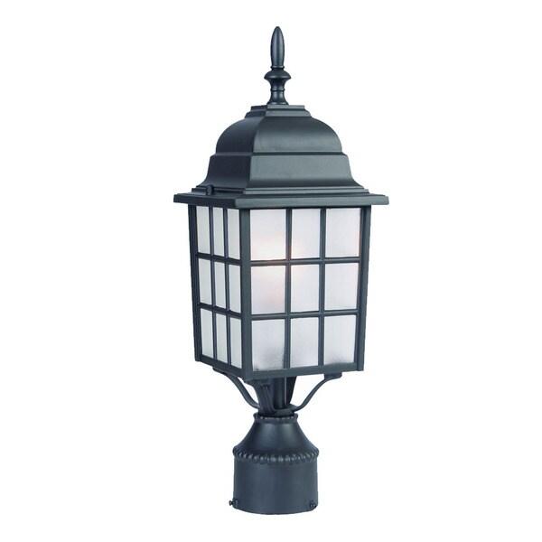 Acclaim Lighting Somerset 1 Light Matte Black Outdoor Post: Shop Acclaim Lighting Nautica Collection Post-Mount 1