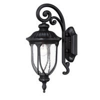 Acclaim Lighting Laurens Collection Wall-Mount 1-Light Outdoor Matte Black Light Fixture