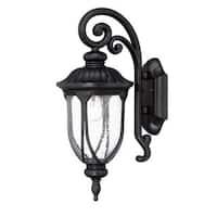 Acclaim Lighting Laurens Collection Wall-Mount 1-Light Outdoor Matte Black Light Fixture