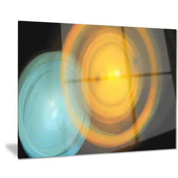 Designart \'Orange Fractal Desktop Wallpaper\' Abstract Digital Art ...