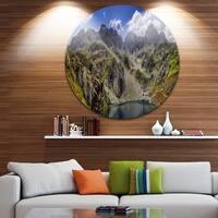 Designart 'Tatra Mountains Panorama' Landscape Photo Disc Metal Wall Art