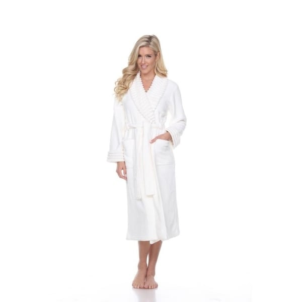 bb8d05286f Shop White Mark Women s Super Soft Lounge Robe - On Sale - Free ...