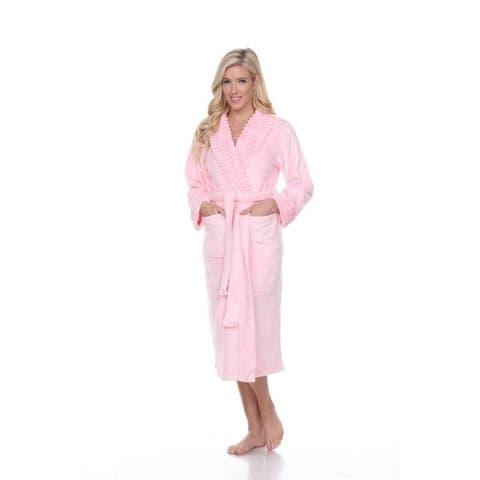 White Mark Women's Super Soft Lounge Robe