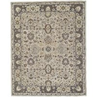Grand Bazaar Botticino Grey Wool/Cotton Hand-tufted Rug - 3'6 x 5'6