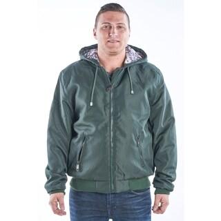 Mens hoodie bomber Jacket