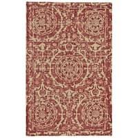 Grand Bazaar Trudeau Ruby Wool Rug - 3'6 x 5'6