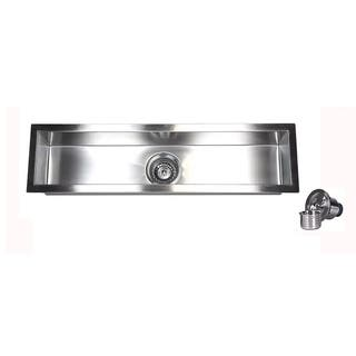 32-Inch Stainless Steel 16 Gauge Undermount Kitchen Prep Island Bar Sink