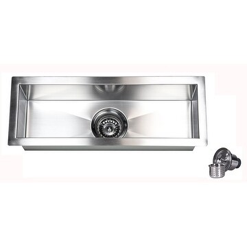 23-Inch Stainless Steel 16 Gauge Undermount Kitchen Prep Island Bar Sink