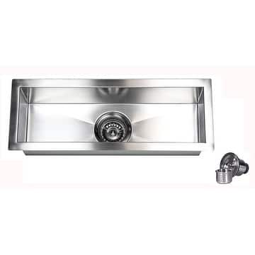 23-Inch Stainless Steel 16 Gauge Undermount Kitchen Prep Island Bar Sink