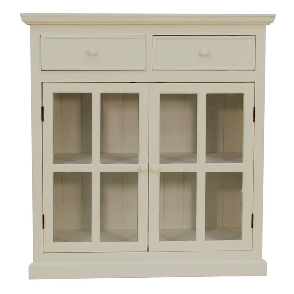 Layla Glass Door Accent Cabinet Free Shipping Today Overstock