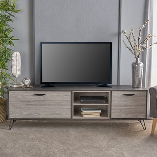 Link to Isadora Mid Century Modern Faux Wood TV Stand by Christopher Knight Home Similar Items in Media Cabinets