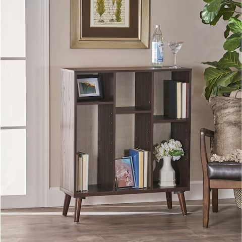 Felicia Mid Century Faux Wood Bookcase by Christopher Knight Home