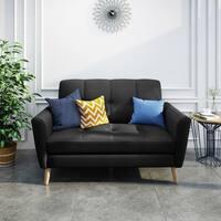 Treston Mid-Century Fabric Loveseat Sofa by Christopher Knight Home