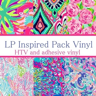 Craft vinyl lilly pulitzer inspired vinyl PACK 1, PACK OF 6 VINYL