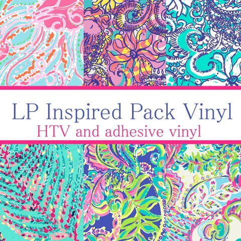 Craft vinyl Lilly Inspired vinyl Collection 2, PACK OF 6 sheets of VINYL