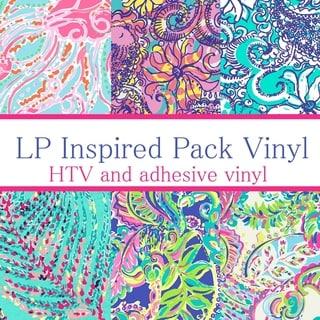 Craft vinyl lilly pulitzer inspired vinyl PACK 2, PACK OF 6 VINYL