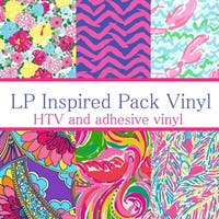 Craft vinyl Lilly Inspired vinyl Collection 5, PACK OF 6 sheets of VINYL