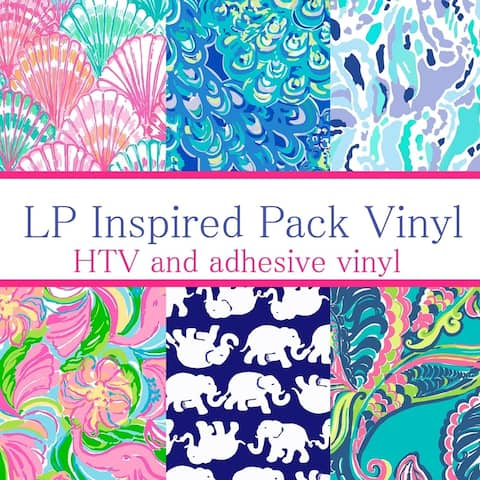 Craft vinyl Lilly Inspired vinyl Collection 4, PACK OF 6 sheets of VINYL