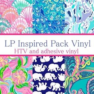 Craft vinyl lilly pulitzer inspired vinyl PACK 4, PACK OF 6 VINYL