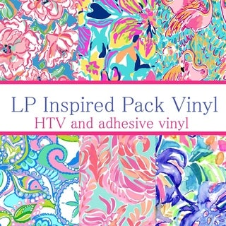 Craft vinyl Lilly Inspired vinyl Collection 3, PACK OF 6 sheets of VINYL