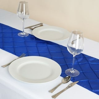 Pintuck Table Runner Wedding Party Banquet 12 x 108 Royal Blue