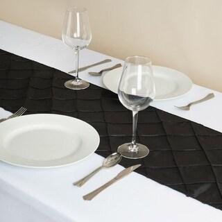 Pintuck Table Runner Wedding Party Banquet 12 x 108 Black