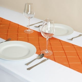 Pintuck Table Runner Wedding Party Banquet 12 x 108 Orange