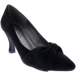 Women's Bellini Charm Pump Black Microsuede