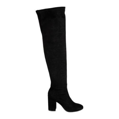 Women's Kenneth Cole New York Carah Thigh High Boot Black Microfiber